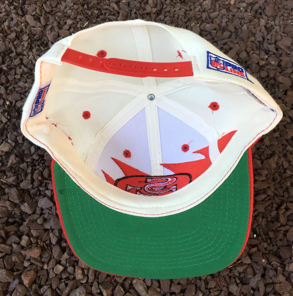 b39489fbffda5 Vintage 90 s San Francisco 49ers Logo Athletic Sharktooth snapback hat. Vintage  49ers Sharktooth