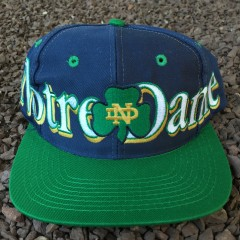Vintage Notre Dame Fighting Irish logo 7 snapback hat
