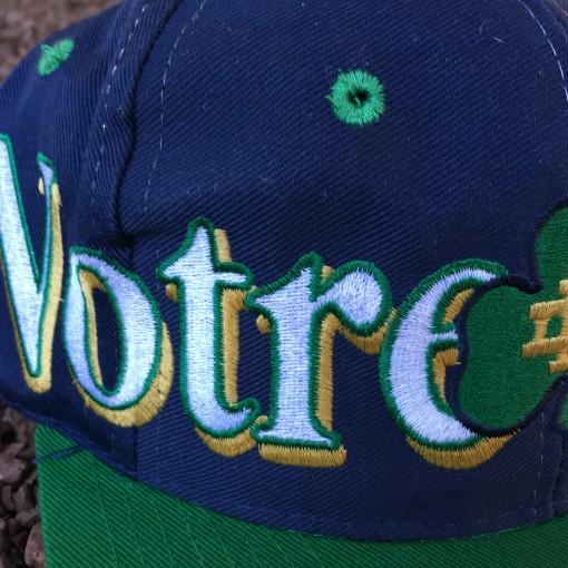 Vintage notre dame snapback hat