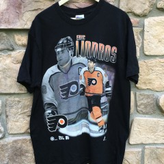 Vintage 90's Eric Lindros Philadelphia Flyers Pro Player Graphic T shirt