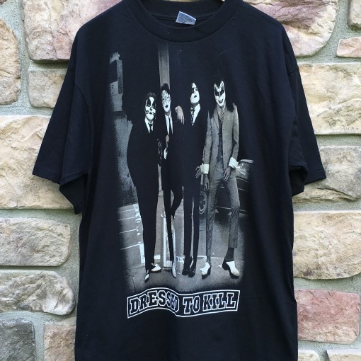 Kiss Dressed to Kill vintage rock concert t shirt