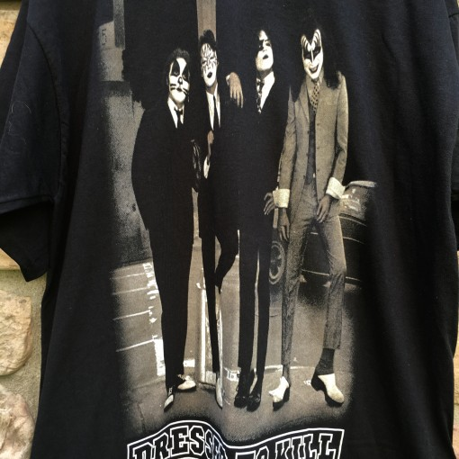 Vintage Kiss dressed to kill rock t shirt xl