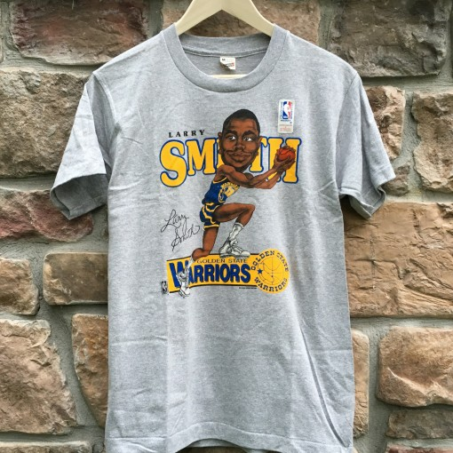 Vintage 80's Golden State Warriors Larry Smith NBA T shirt