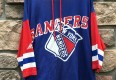 Vintage 90's New York Rangers Apex one hooded NHL T shirt size XL