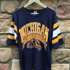 vintage 90's Michigan Wolverines NCAA football t shirt crewneck jersey size small