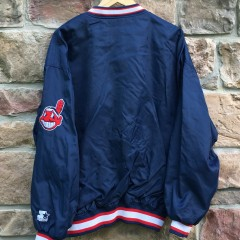 back of starter Indians jacket