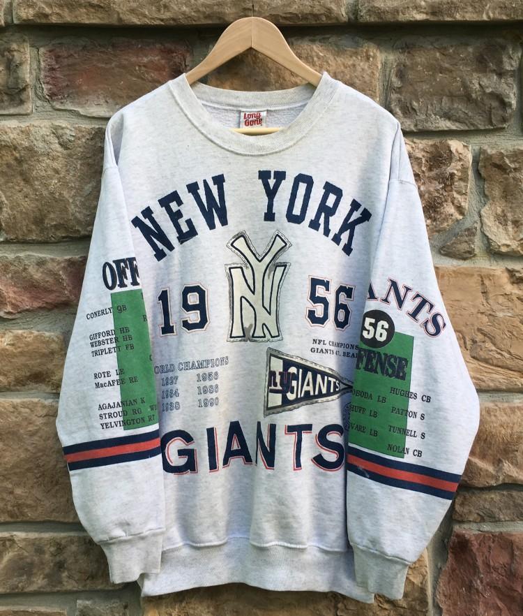 1956 New York Giants World Champions Crewneck Sweatshirt Size XL ... 6759c594d