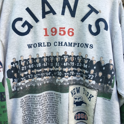 1956 New York Giants world champions sweatshirt