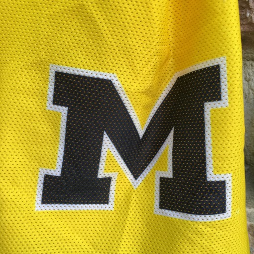 Vintage University of  Michigan  basketball shorts yellow
