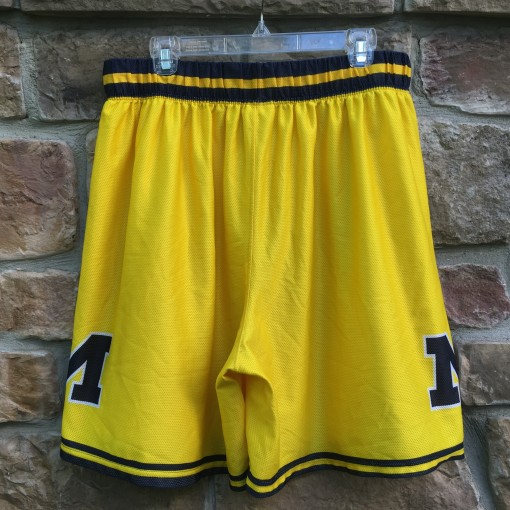 vintage yellow fab 5 Michigan shorts for sale