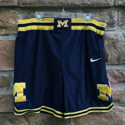 vintage authentic University of Michigan fab 5 Nike basketball shorts