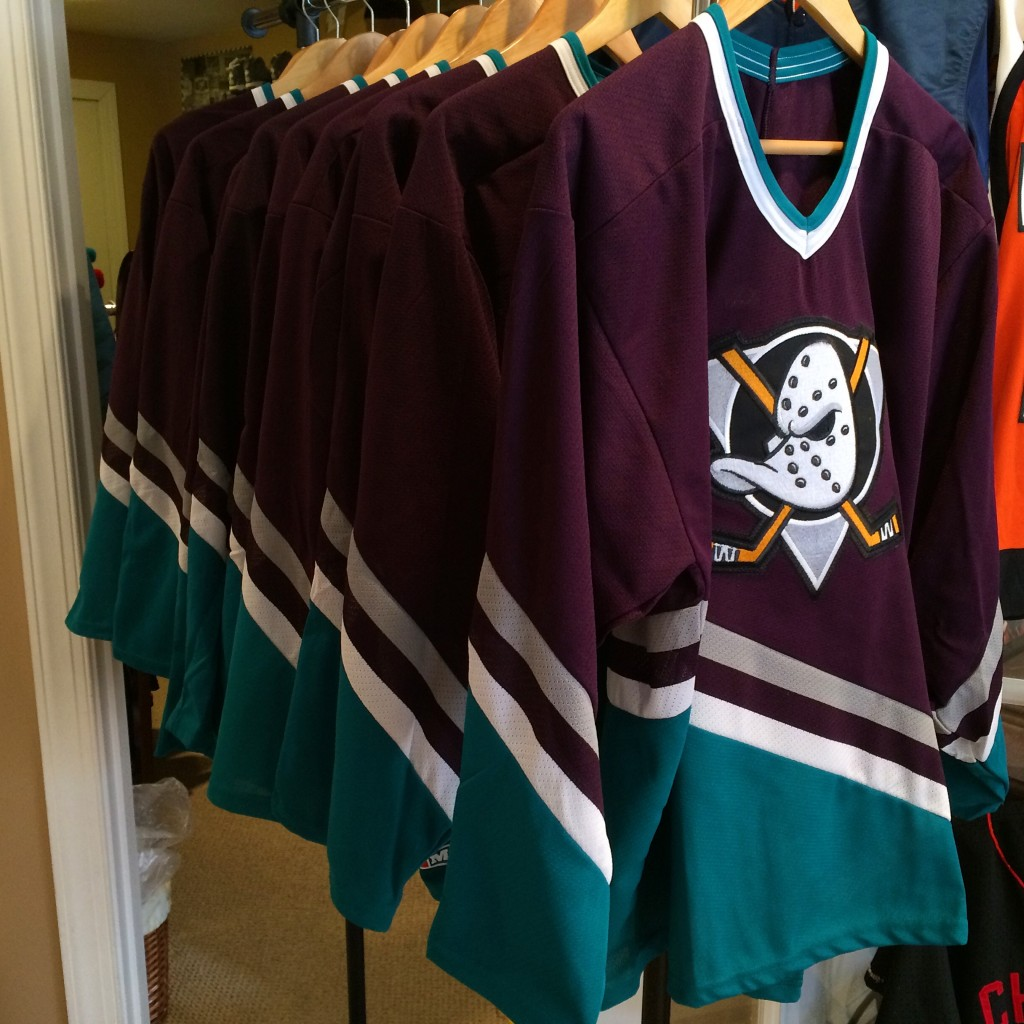 Vintage 90's Anaheim Mighty Ducks jerseys for sale