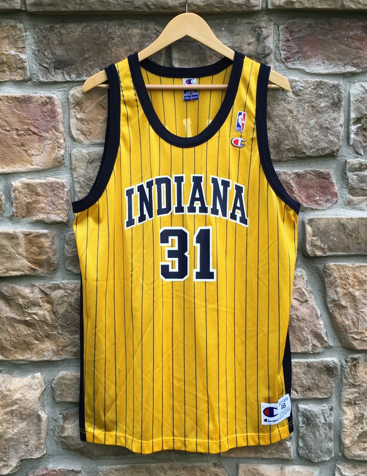 781c88b8a 1999 Reggie Miller Indiana Pacers Alternate Champion NBA Jersey Size ...
