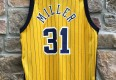 vintage reggie miller yellow pacers jersey