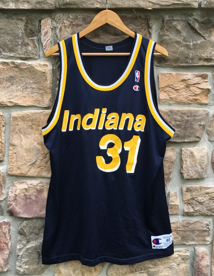 1992 Reggie Miller Indiana Pacers Champion NBA Jersey Size 48  1db2a6cd4