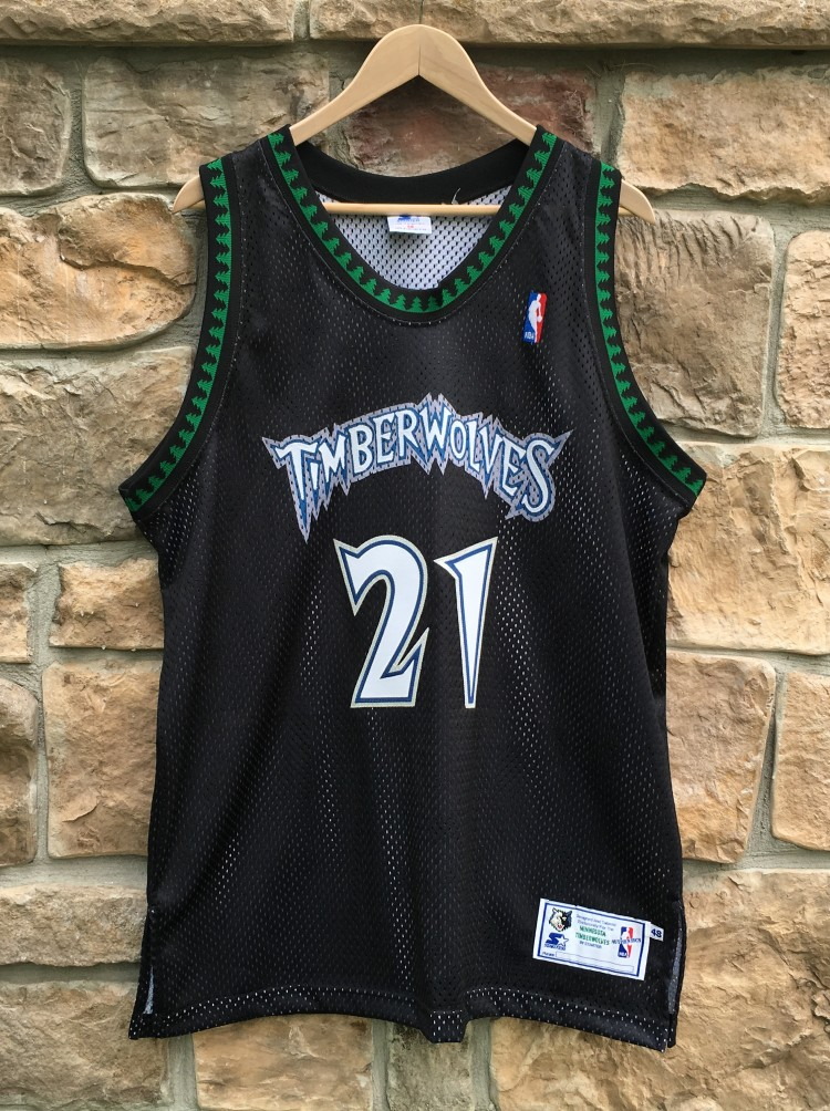 check out 2cce3 34cd8 1998 Kevin Garnett Minnesota Timberwolves Authentic Starter NBA Jersey Size  48