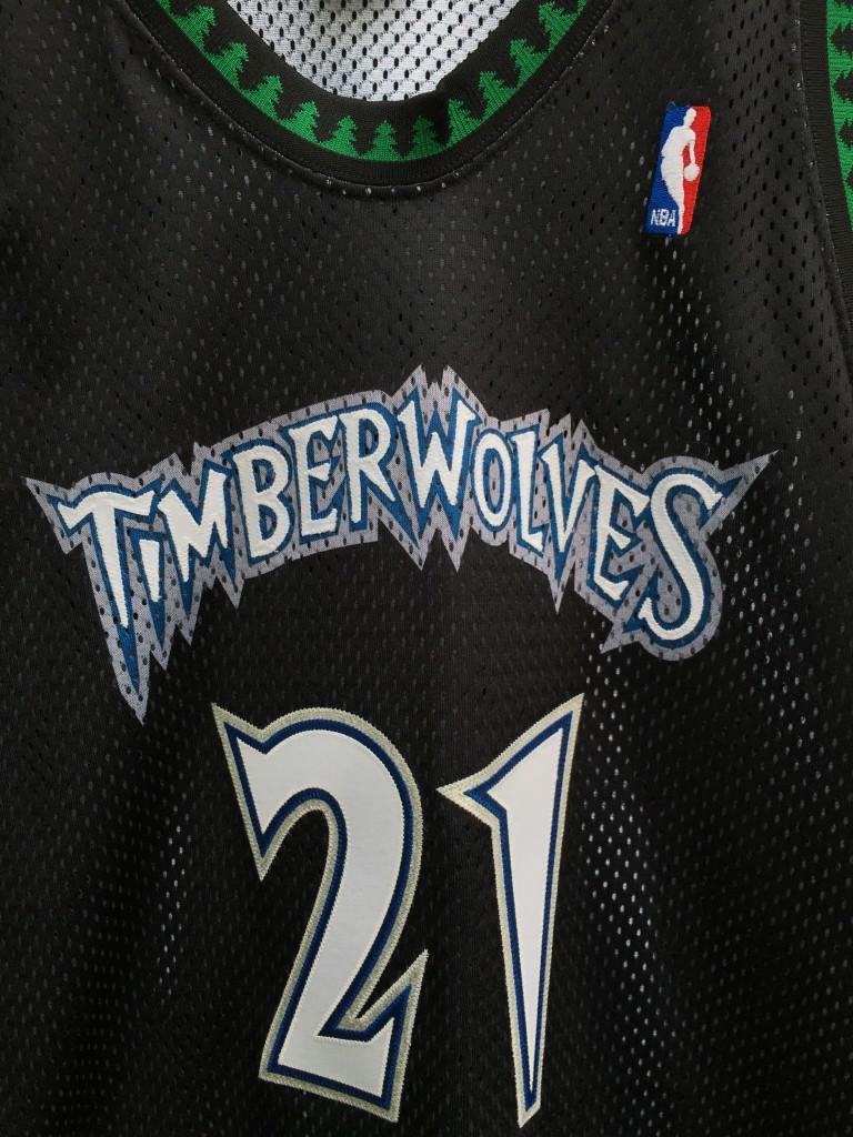 check out ccca3 238fc 1998 Kevin Garnett Minnesota Timberwolves Authentic Starter NBA Jersey Size  48