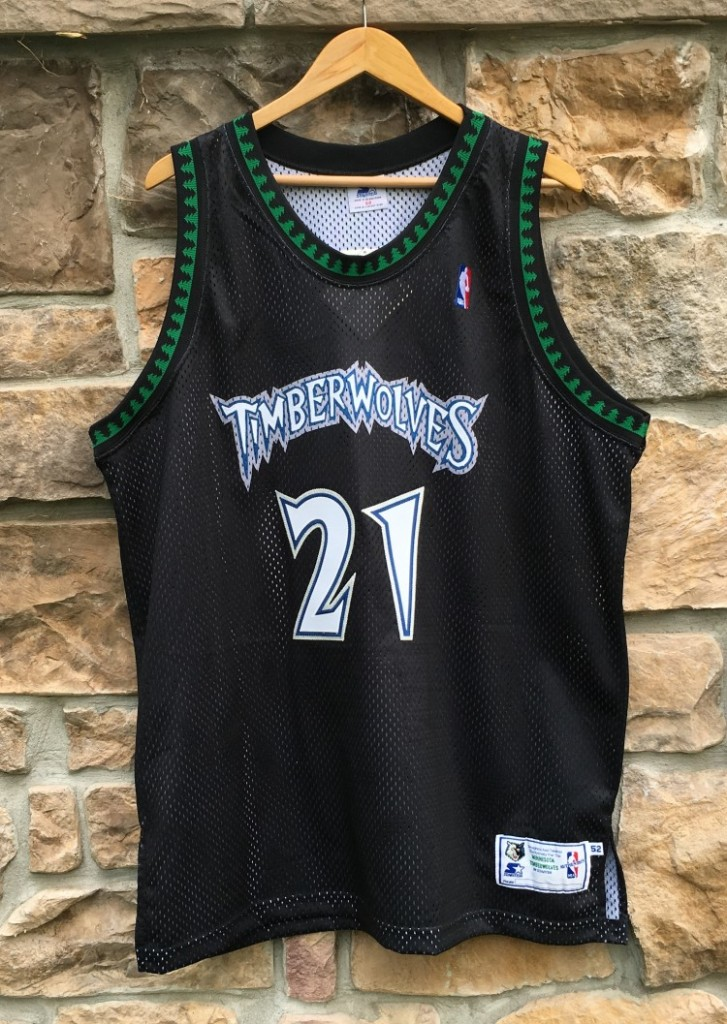 low priced aed87 a497d 1998 Kevin Garnett Minnesota Timberwolves Authentic Starter NBA Jersey Size  52