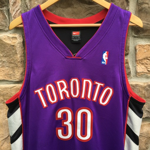 Authentic Dell Curry Toronto Raptors NBA jersey