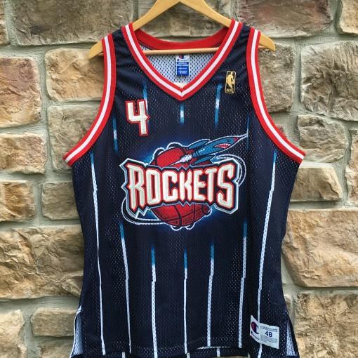 authentic Charles Barkley Houston Rockets Champion Gold Logo NBA jersey