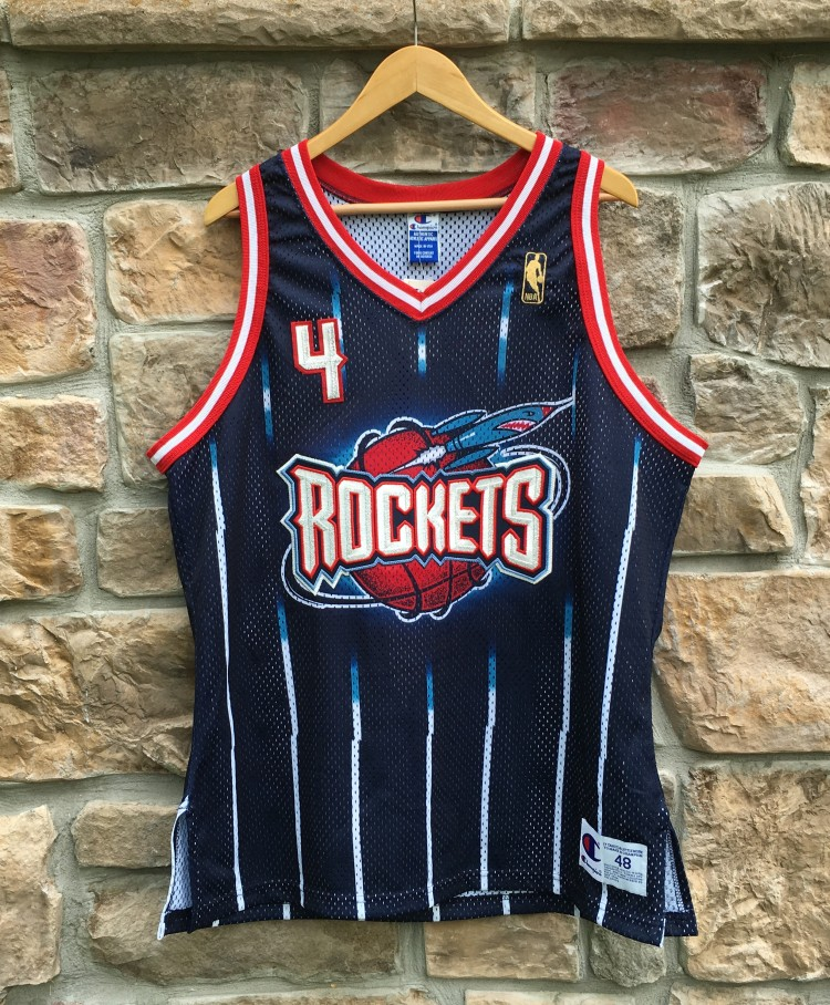 the latest 0e0d7 855ef 1997 Charles Barkley Houston Rockets Authentic Champion NBA Jersey Size 48