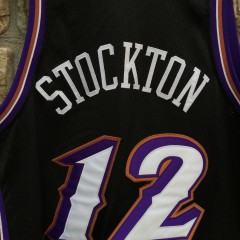 Black stockton throwback jersey