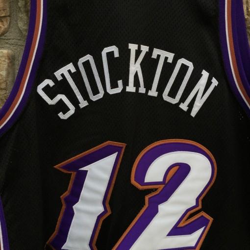 Black stockton throwback jersey
