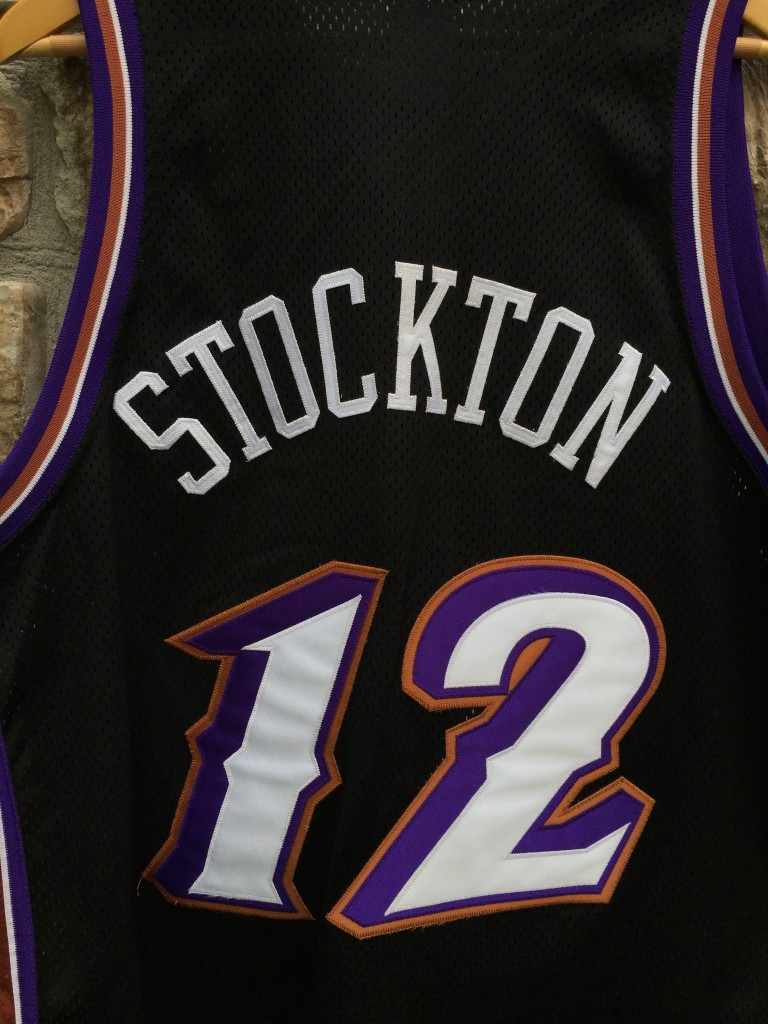 size 40 4e416 1856c 1998 John Stockton Utah Jazz Authentic Alternate Champion NBA Jersey Size 48