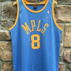 Vintage Kobe Bryant Minneapolis Lakers MPLS Powder Blue throwback hardwood classics jersey