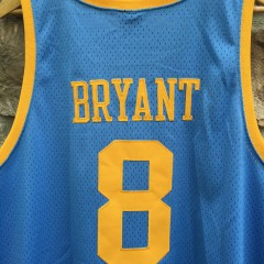 vintage Kobe Bryant Powder Blue Lakers throwback jersey