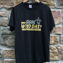 vintage 80's New Orleans Saints Who Dat NFL t shirt