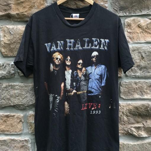 vintage 1993 Van Halen Live concert t shirt