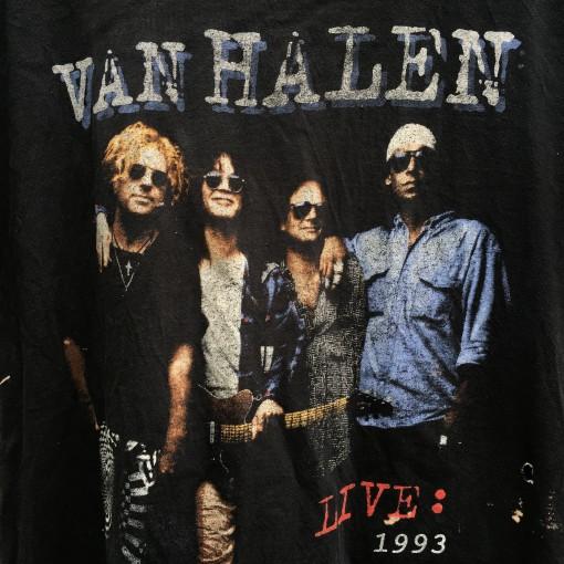 vintage 90's Van Halen rock concert t shirt