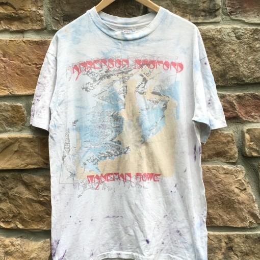 vintage 1988-89 Anderson Bruford Wakeman Howe rock concert t shirt