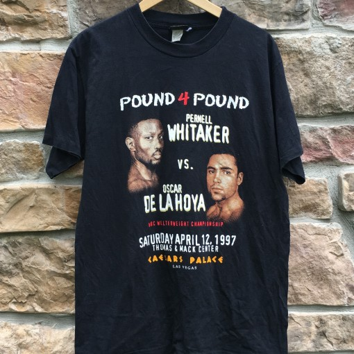 1997 Oscar De La hoya pernell whitaker boxing t shirt