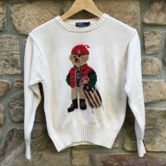 Vintage 90's Polo Ralph Lauren Sledding bear crewneck sweater