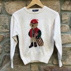 Vintage 90's Polo Ralph Lauren Sledding bear crewneck sweater