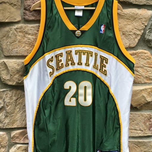 vintage Seattle Supersonics Gary Payton Authentic jersey size 48