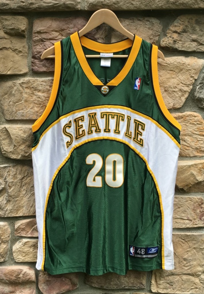 quality design 80cf5 68ae5 2001 Gary Payton Seattle Supersonics Reebok Authentic NBA Jersey Size 48