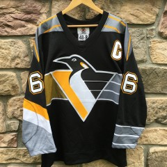 1997 Mario Lemieux Pittsburgh Penguins Authentic Starter NHL hockey jersey size 48