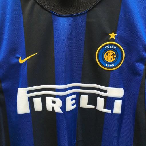 90's Nike Inter Milan Pirelli soccer jersey