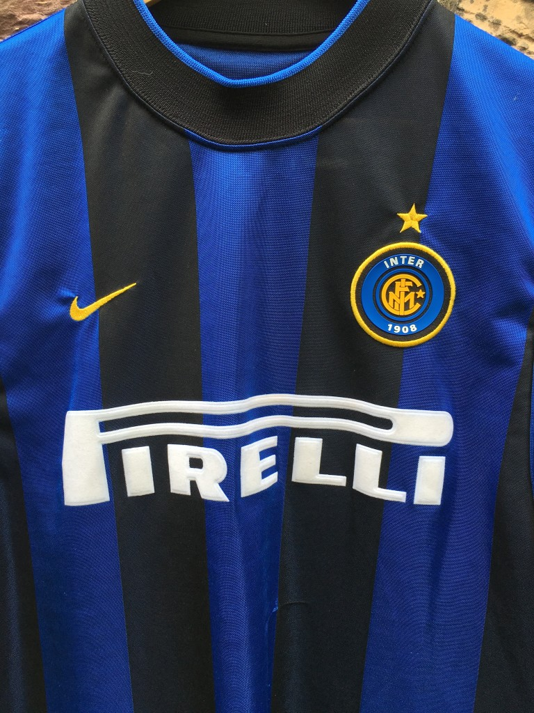 new concept 3a388 158d6 1999 Inter Milan Pirelli Nike Soccer Jersey Size Large