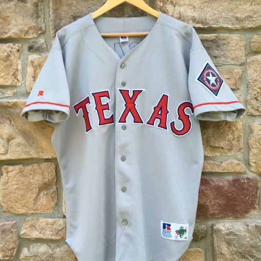 vintage 90's texas Rangers Juan Gonzalez Russell Diamond Collection Authentic jersey size 48