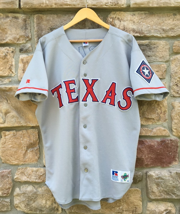 newest dca24 157f4 1996 Juan Gonzalez Texas Rangers Authentic Russell MLB Jersey Size 48