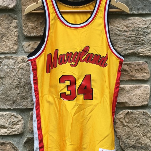 vintage 80's Len Bias University of Maryland Champion NCAA jersey