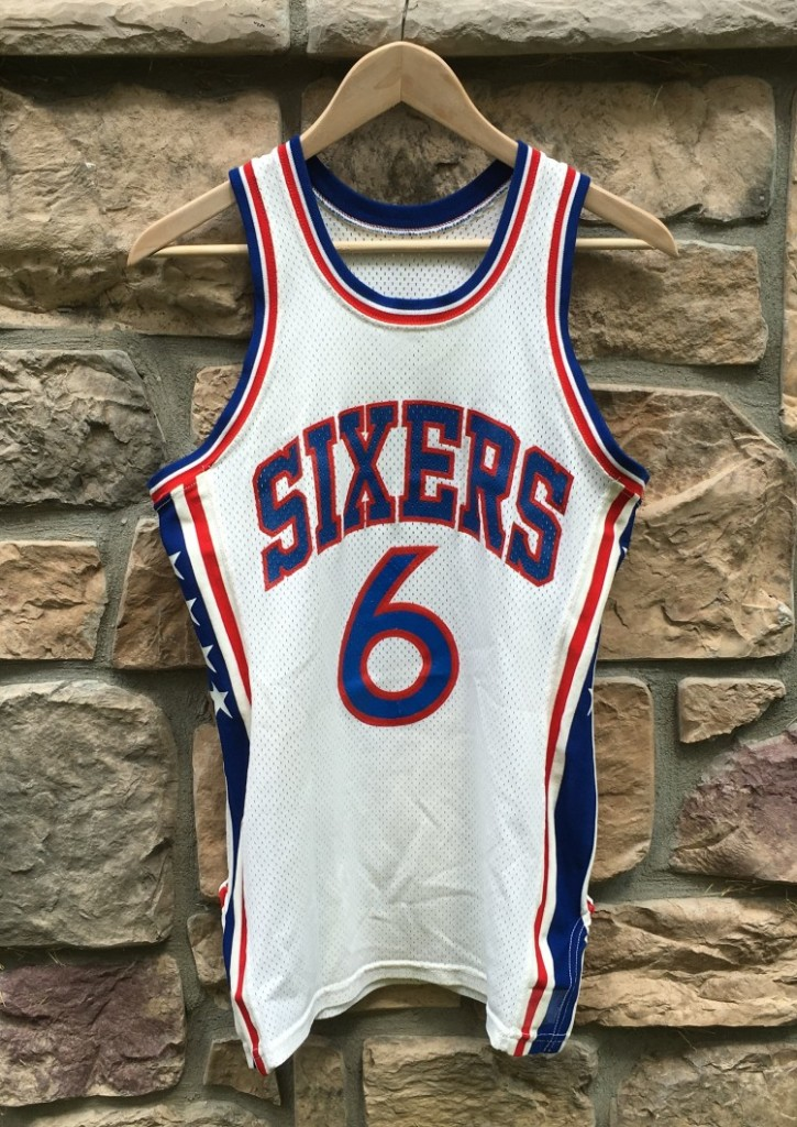 the latest 908a6 e4704 70's Julius Erving Philadelphia Sixers Wilson NBA Jersey
