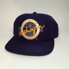 vintage washington Huskies The Game Circle Logo Snapback hat