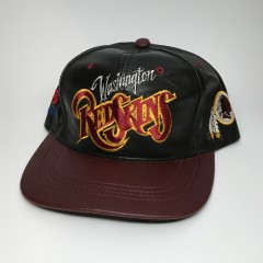 vintage 90's Washington Redskins NFL snapback hat leather