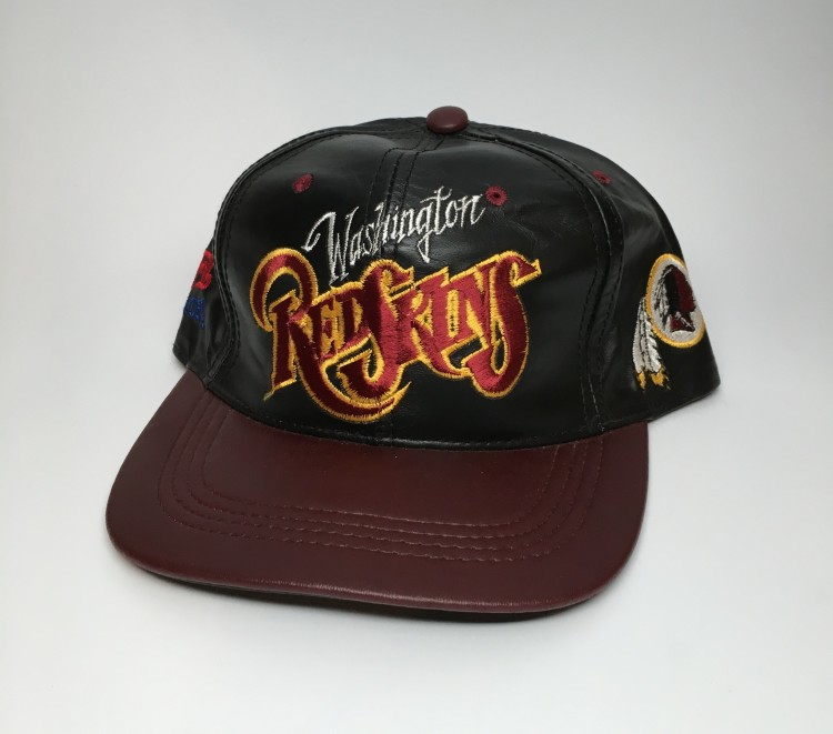 a8fc3c63 90's Washington Redskins Leather NFL Snapback Hat