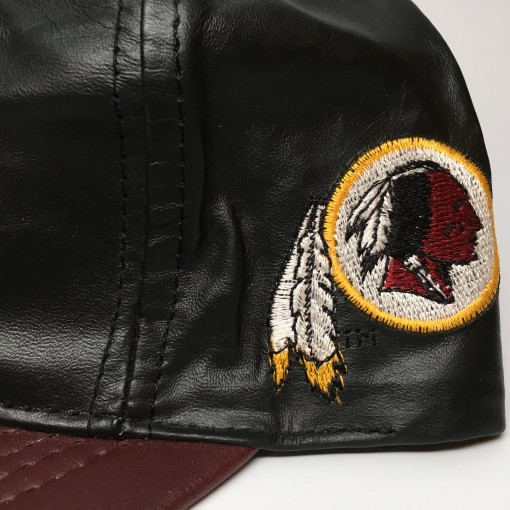 vintage Leather Redskins snapback hat